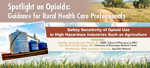 Safety Sensitivity of Opioid Use in High Hazardous Industries Such as Agriculture