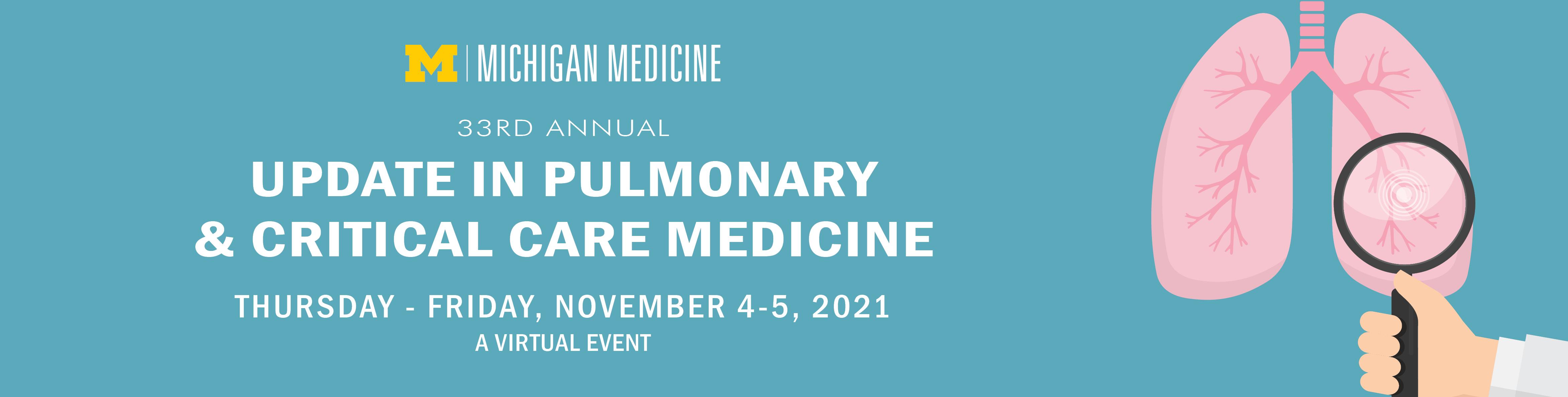 33rd Annual Update in Pulmonary & Critical Care Medicine